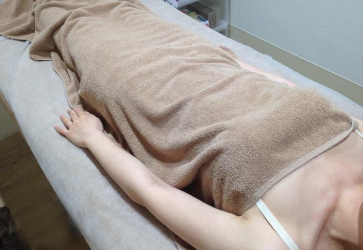 アリシアクリニックの腕脱毛照射直後の状態